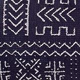 "Rivet Mudcloth-Inspired Pillow, 12"" x 24"", Navy"