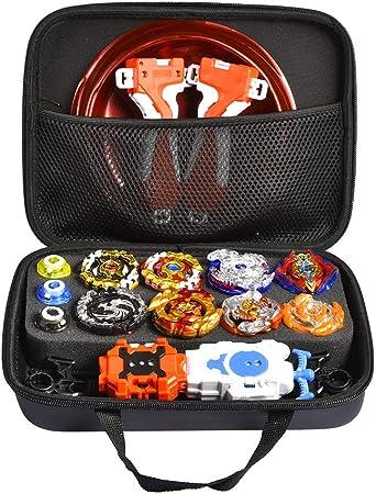 Caja de Almacenamiento Compatible con Beyblade Burst Gyro, 28x6x2cm Disco Burst Gyro Disco De Duelo Emocionante Spinning Top Launcher Accesorios De Juguete Para Niños Regalos De Cumpleaños De Navidad