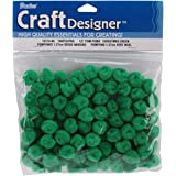 "Pom Poms .5"" 100/Pkg-Kelly Green"