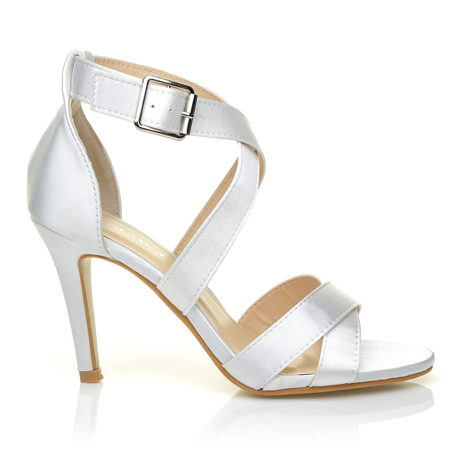 ShuWish UK Sophie, Sandales - pour femme blanc Satin Sophie, blanc Sandales - f8bfc1a - conorscully.space