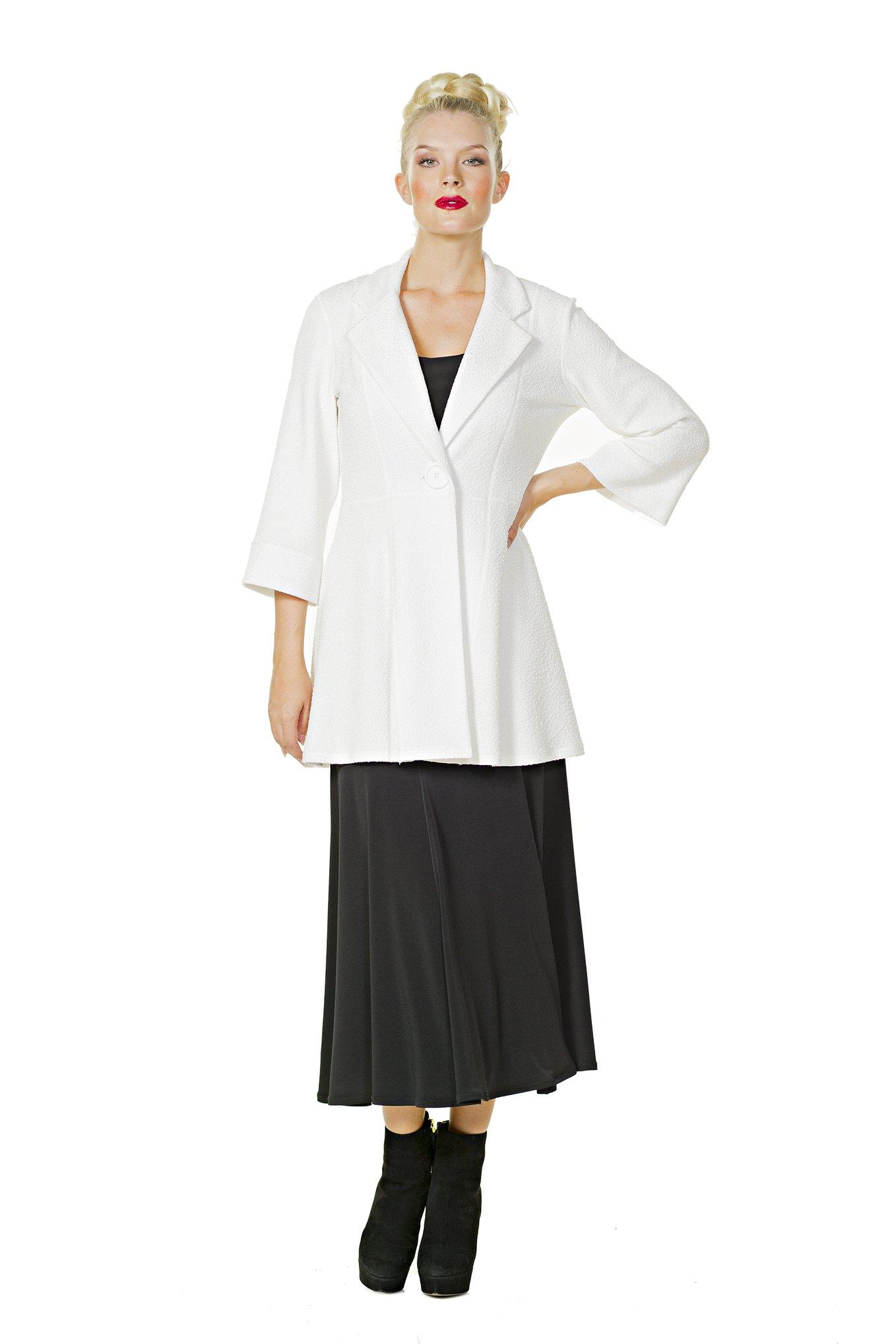 Eva Varro Women's Boot Length Flair Skirt Large Black