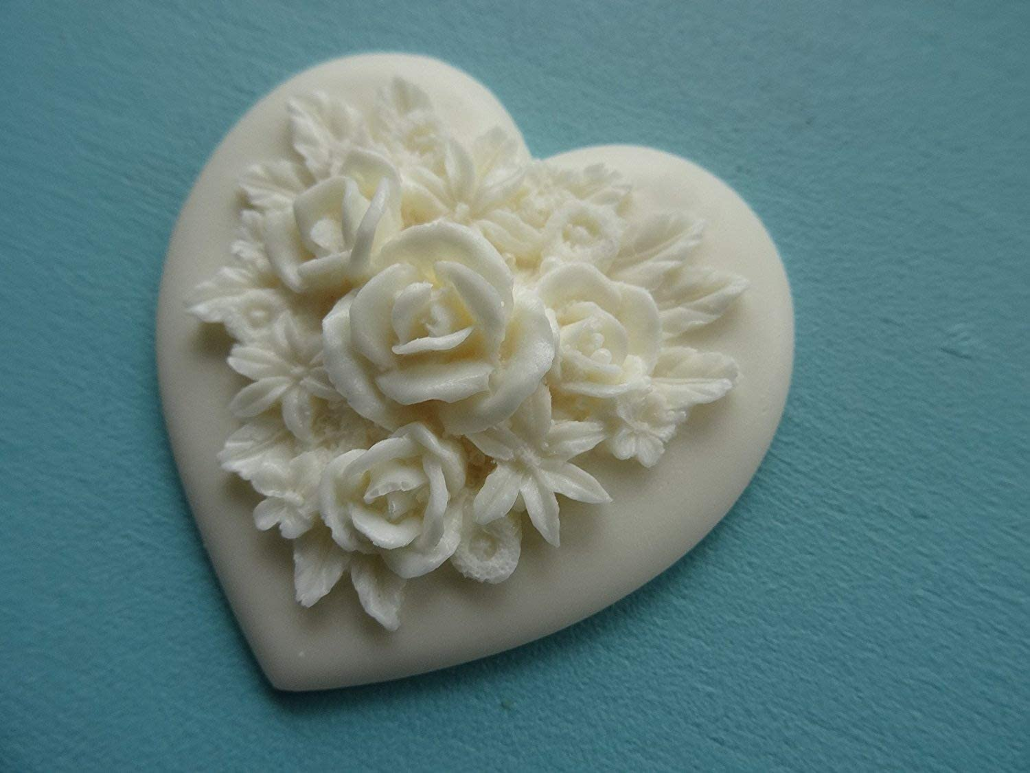 Decorative chic rose on heart /& scrolls furniture moulding onlay resin RHGS