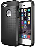 iPhone 5S Case,iPhone SE Case,Geminiman Hybrid Dual Layer Slim Case Flexible TPU Bumper & Hard PC Back Rugged Premium ShockProof Protective Durable Cover For iPhone 5S/SE/5(Black)