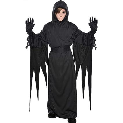 Amazon.com: dreaded Terror traje fiesta disfraces, Negro ...