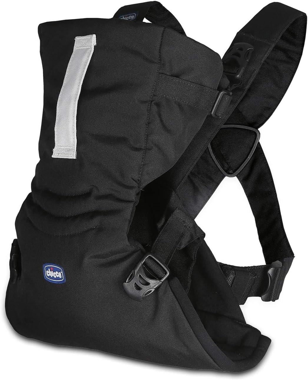 Chicco Easy Fit Mochila ergonómica portabebé, hasta 9 kg, color negro (Black Night)