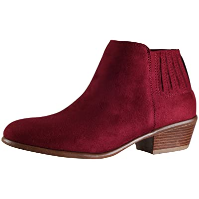 Wild Diva Women's Manny-02 Sueded Ankle Bootie | Shoes