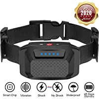 HELLKOPF Bark Collar - Dog Collar with No Harm Shock or Vibration Mode, for Small/Medium/Large Dogs, Effective Anti Bark Device-Waterproof, Rechargeable, No Remote