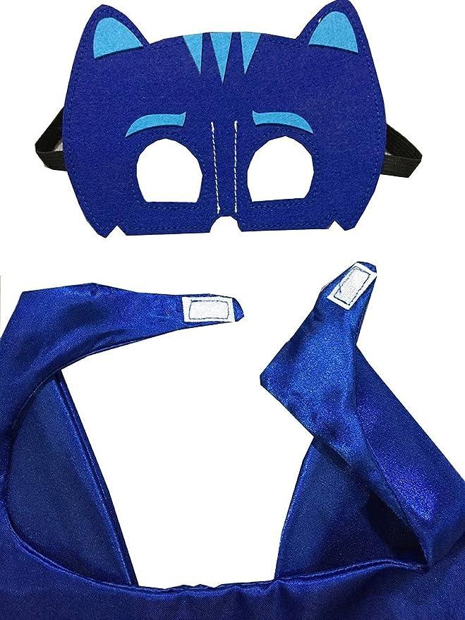 ygql PJ máscaras disfraces para niños Catboy máscara con Cabo (27,5 cm): Amazon.es: Juguetes y juegos