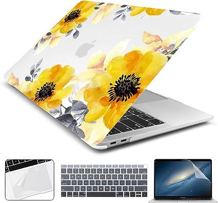 A1706//A1708,Verde Batianda Funda r/ígida Protector de pl/ástico para Macbook Pro 13 Pulgadas,2016 /& 2017 Nuevo MacBook Pro 13 Pulgadas con//sin Touch Bar y Touch ID