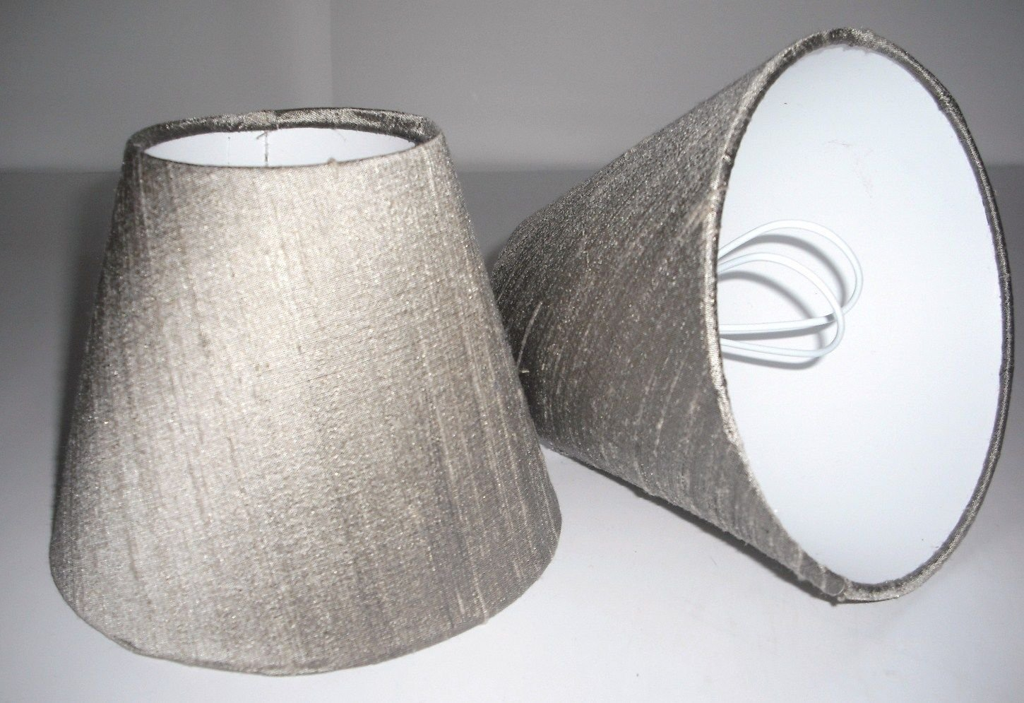 6 candle lampshade handmade in uk taupe silk amazon lighting mozeypictures Images