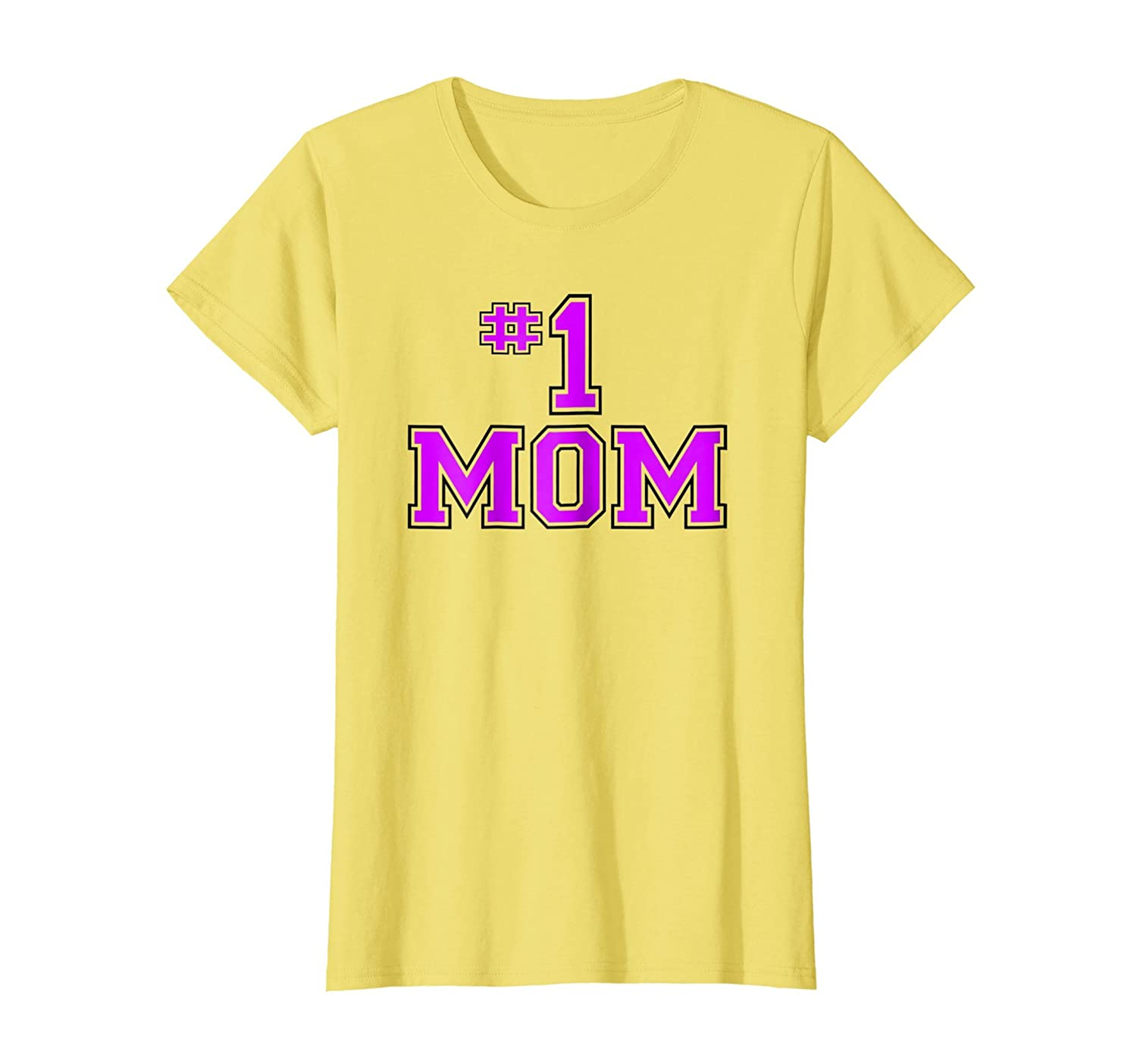 fe70195a9243f Amazon.com: Womens Mother's Day T-Shirt - 'Number One Mom' - Great ...
