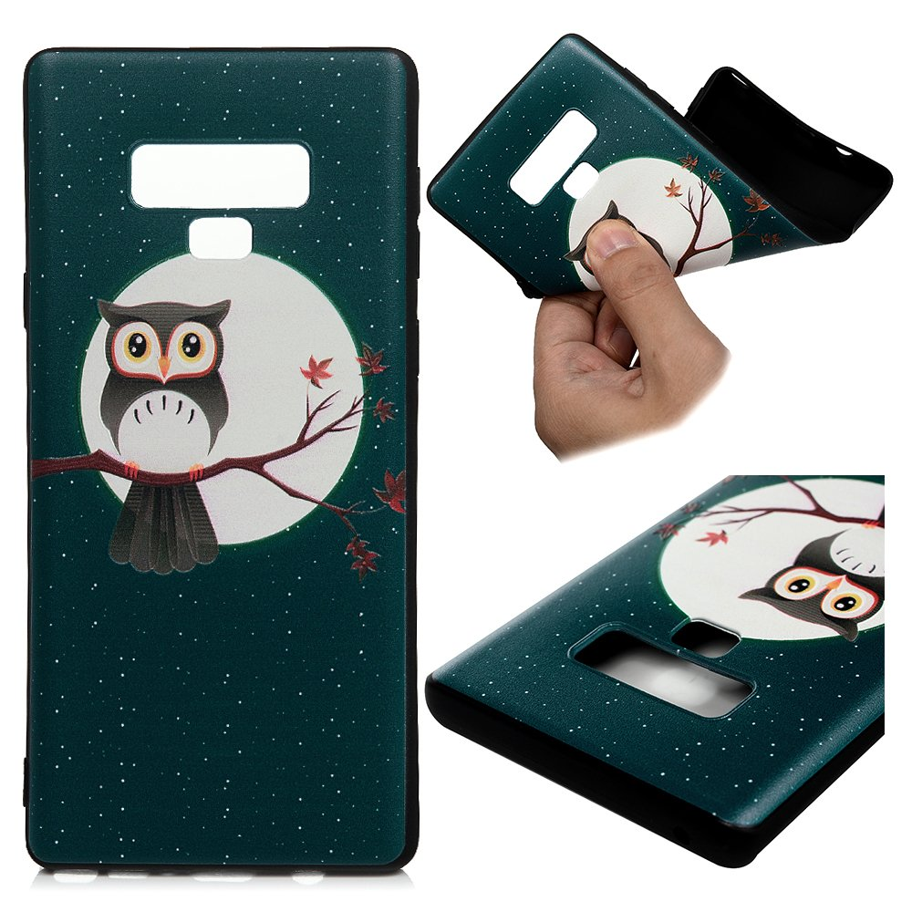 LaVibe /Étui Gel Silicone TPU Embosser Transparant Protecteur Housse Anti-Rayures Pare-Chocs Bumper Souple Ultra Slim Flexible Soft Case Cover Coque Samsung Galaxy Note 9 Panda Bamboo