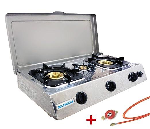 Acero inoxidable de calidad Hornillo de gas 3 focos 10 KW ...
