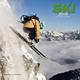 Ski 2018 12 x 12 Inch Monthly Square Wall Calendar by Wyman, Winter Snow Sport