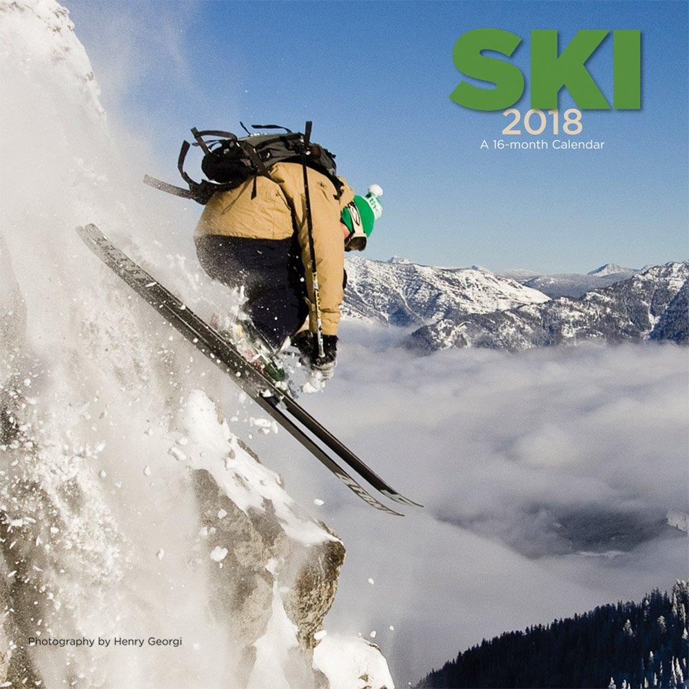 Ski 2018 12 x 12 Inch Monthly Square Wall Calendar by Wyman, Winter Snow Sport by Wyman Publishing