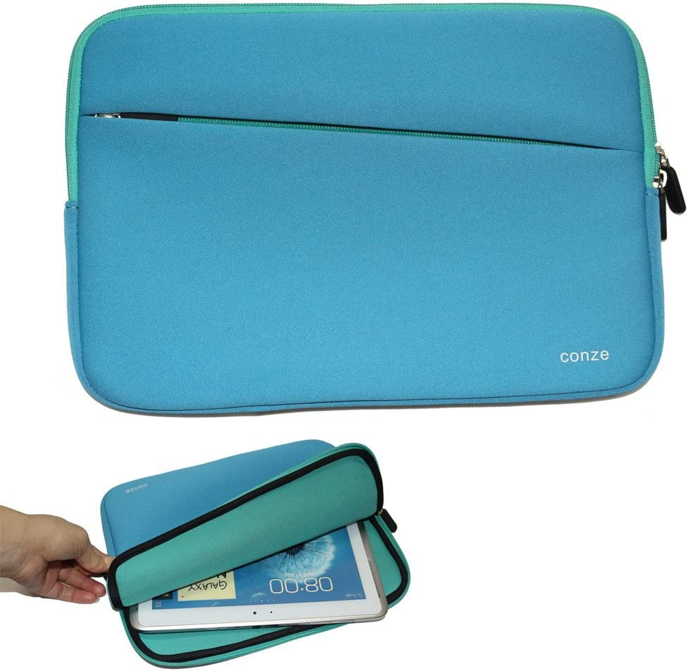 Conze 13¡±Tablet Sleeve Water-Resistant Protective Pouch Cover/Brief case Carrying Bag with Front Pocket fits for Dell Latitude 14 E7450 / 5480/7480 in Blue