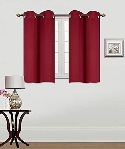 Fancy Collection 2 Panels Tiers Grommets Window Treatment Curtain Thermal Heavy Thick Light Filtering Blackout Drapes