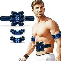 SUPOLA Electroestimulador Muscular Abdominales, Entrenador Muscular EMS Estimulador con Transmisión de Voz Inteligente…