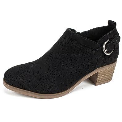 WHITE MOUNTAIN Shoes Avenue Womens Bootie Black Suedette 6 M