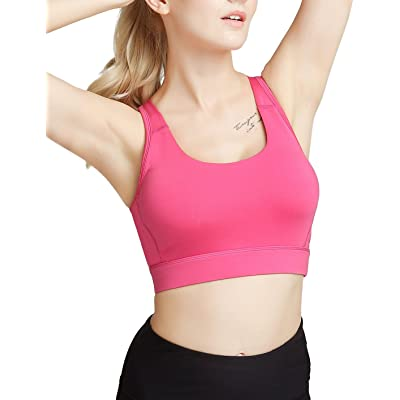 Women's Racerback Sports Bras Yoga Bra Removable Padded Activewear Bra High Impact