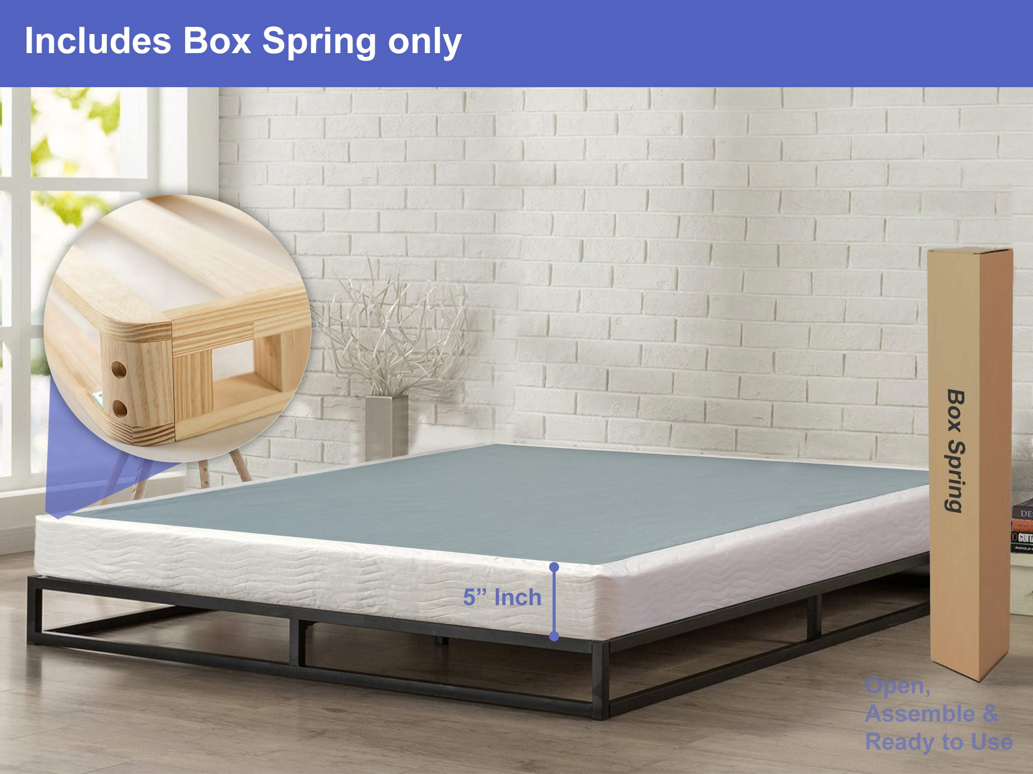 Spring Coil 6500-5/0 Mattress, Queen, Off Off White by Spring Coil