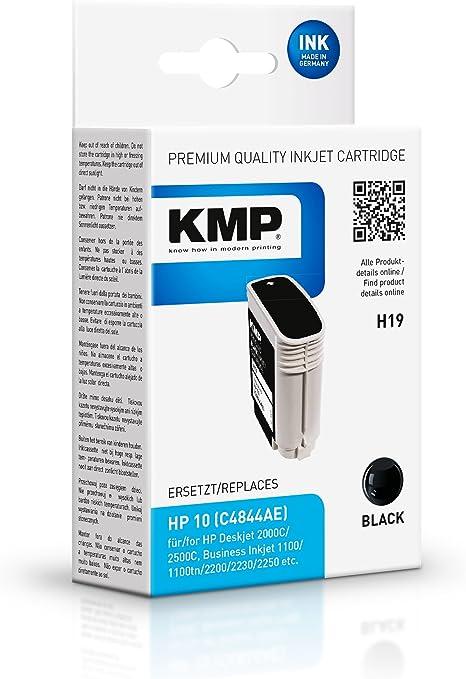 KMP H19 - Cartucho de tinta HP Nº10 C4844A, color negro: Amazon.es ...
