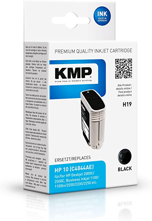 KMP H19 - Cartucho de tinta HP Nº10 C4844A, color negro: Amazon.es: Oficina y papelería