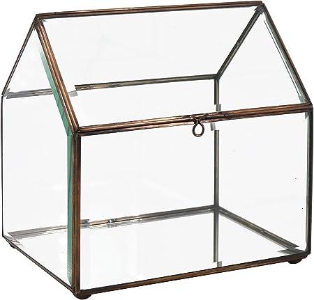 Moycor Bisel Caja casa Grande, 30x20x29, Cristal, Bronce Envejecido, 30x20x29 cm: Amazon.es: Hogar