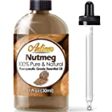 Artizen Nutmeg Essential Oil (100% PURE & NATURAL - UNDILUTED) Therapeutic Grade - Huge 1oz Bottle - Perfect for Aromatherapy, Relaxation, Skin Therapy & More!