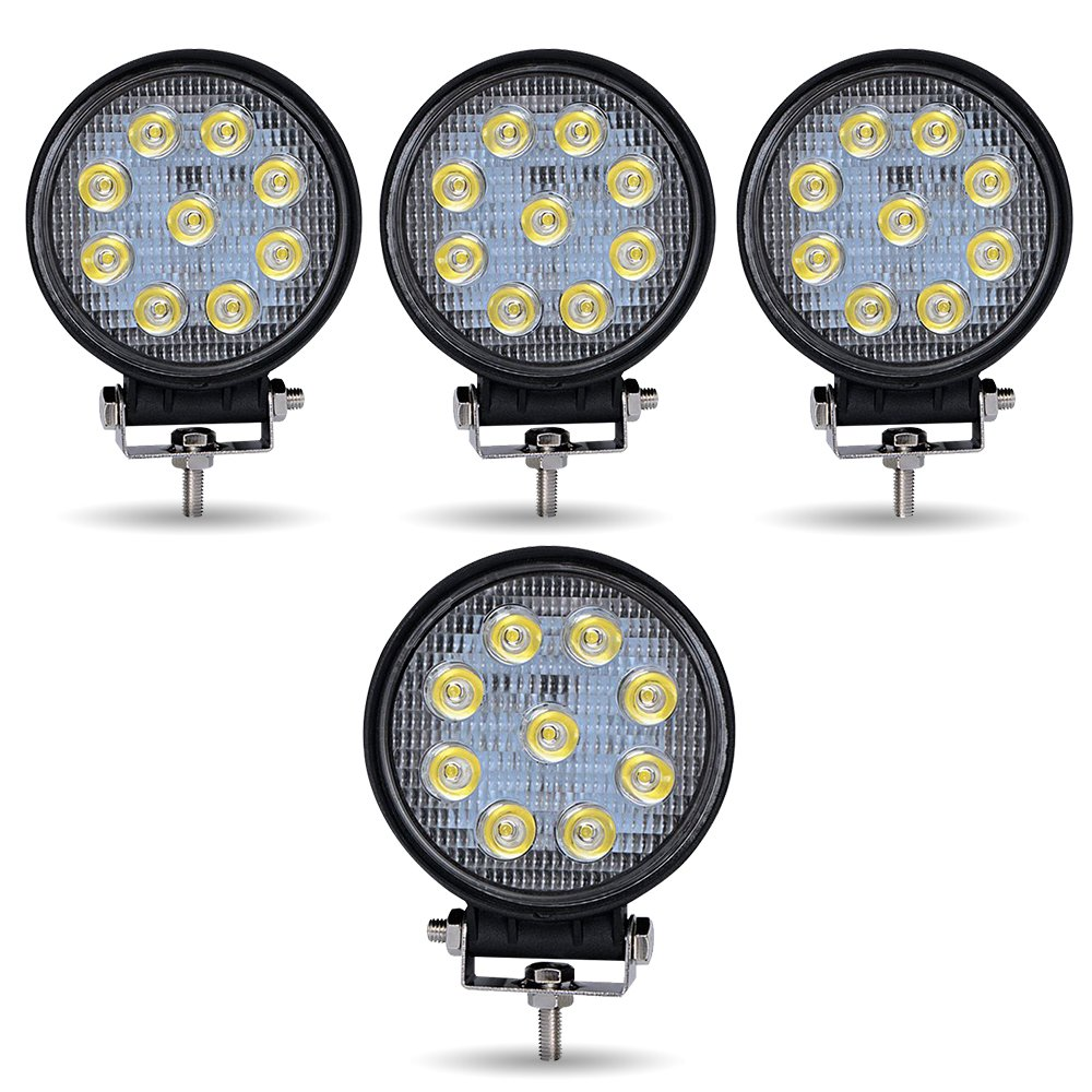 Turbo Sii 4pack 4inch 27w Flood Round Pods Led Work Thread How Do You Wire The Fog Lights Light Driving Offroad For Tractor Off Road Suv Boat 4x4 Jeep Jk 4wd Truck