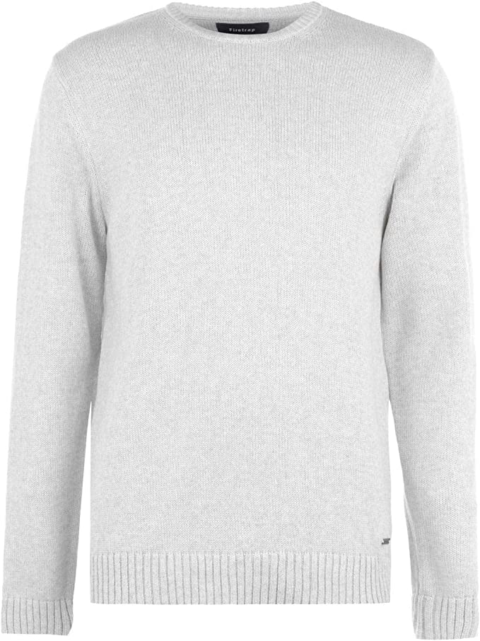Firetrap Graphic Crew Pullover Mens Gents Jumper Full Length Sleeve Neck Jersey