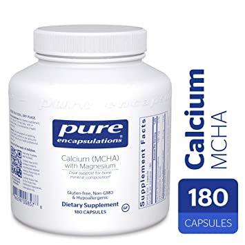 Pure Encapsulations - Calcium MCHA with Magnesium - Hypoallergenic Dietary Supplement for Bone Support* -