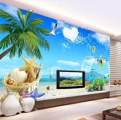 Mural de pared 3D con diseño de pecera, para sala de estar, sofá, TV ...