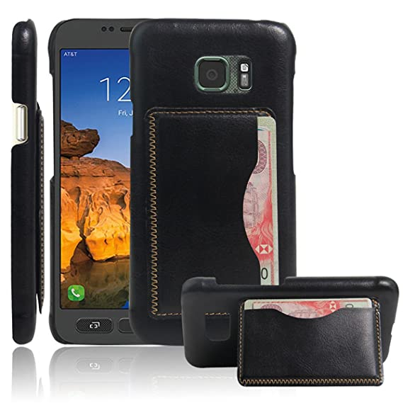 online store 45e3f 32323 Galaxy S7 Active Case,Gift_Source [Black] [Wallet Function] Ultra Slim  Litchi Grain PU Leather Back Cover Built-in Card Slots Kickstand Protective  ...