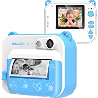 Dragon Touch InstantFun Instant Print Camera for Kids, Zero Ink Toy Camera with Print Paper, Cartoon Sticker, Color…