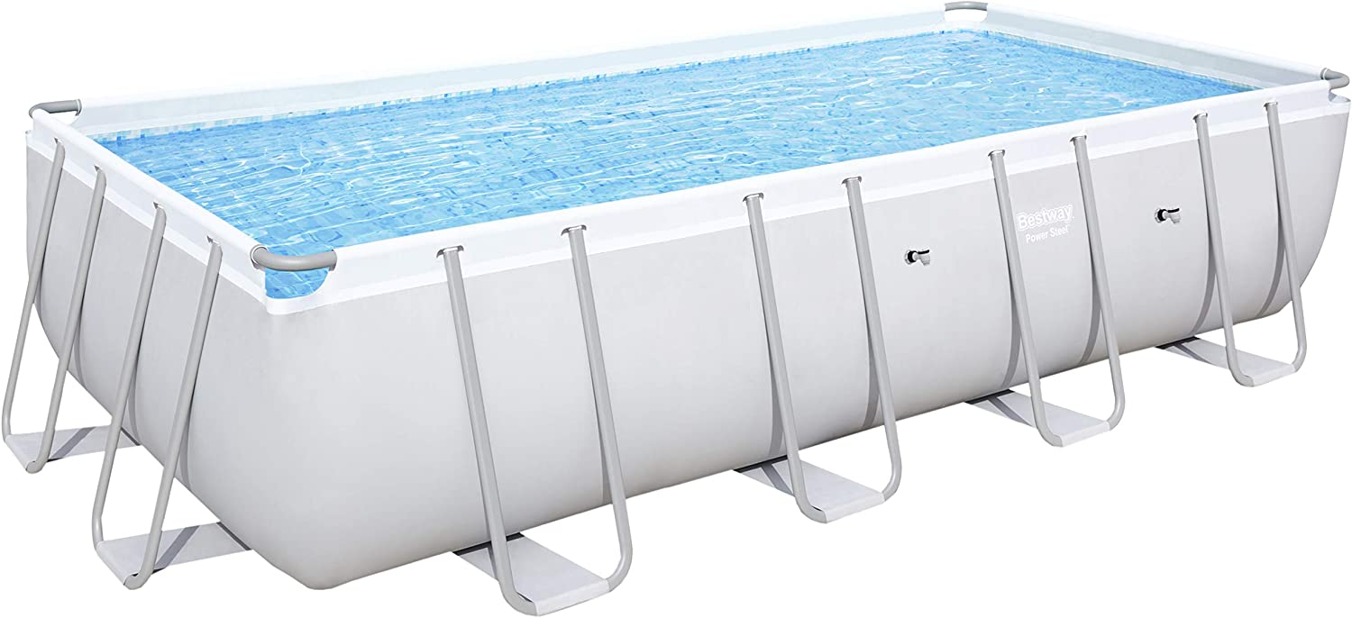 Bestway Power Steel Rectangular Frame Pool, 549 x 274 x 122 cm ...