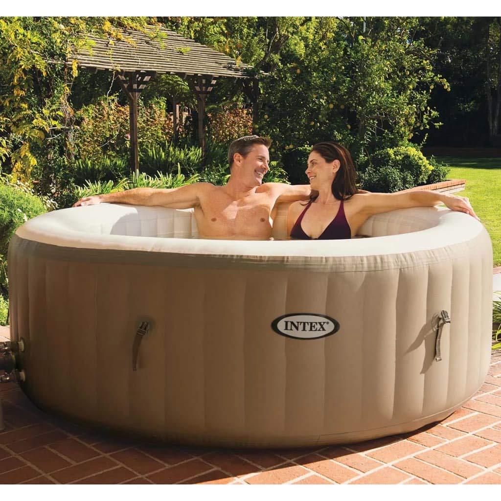 vidaXL Whirlpool Aufblasbar 196x71cm Pool Spa mit Blase Massage Außenwhirlpool