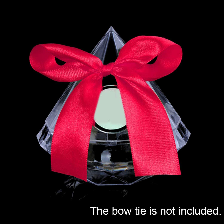 Changlesu Lot de 12 bo/îtes /à drag/ées de Mariage en Plastique Transparent en Forme de Diamant S