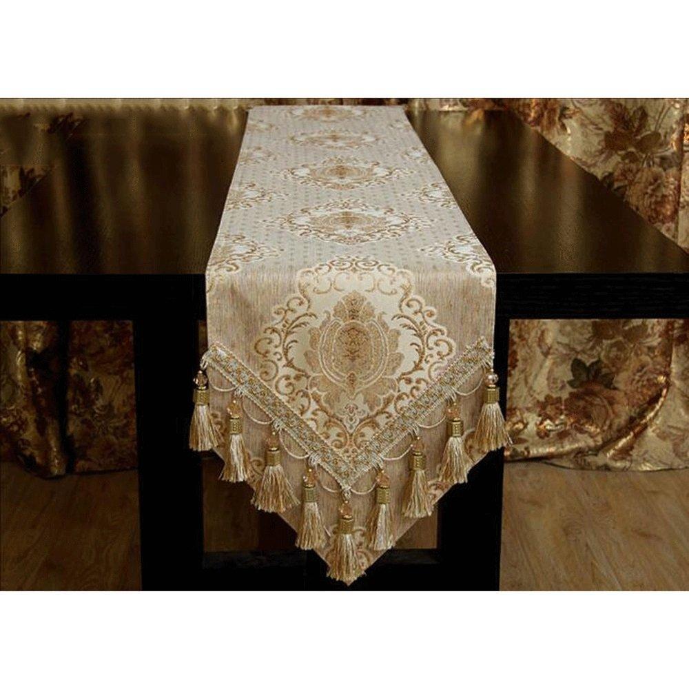 TABLE RUNNER Pride S Estilo Europeo Jacquard Cloth Hotel Decoración para el Hogar (Tamaño : 30  240cm)