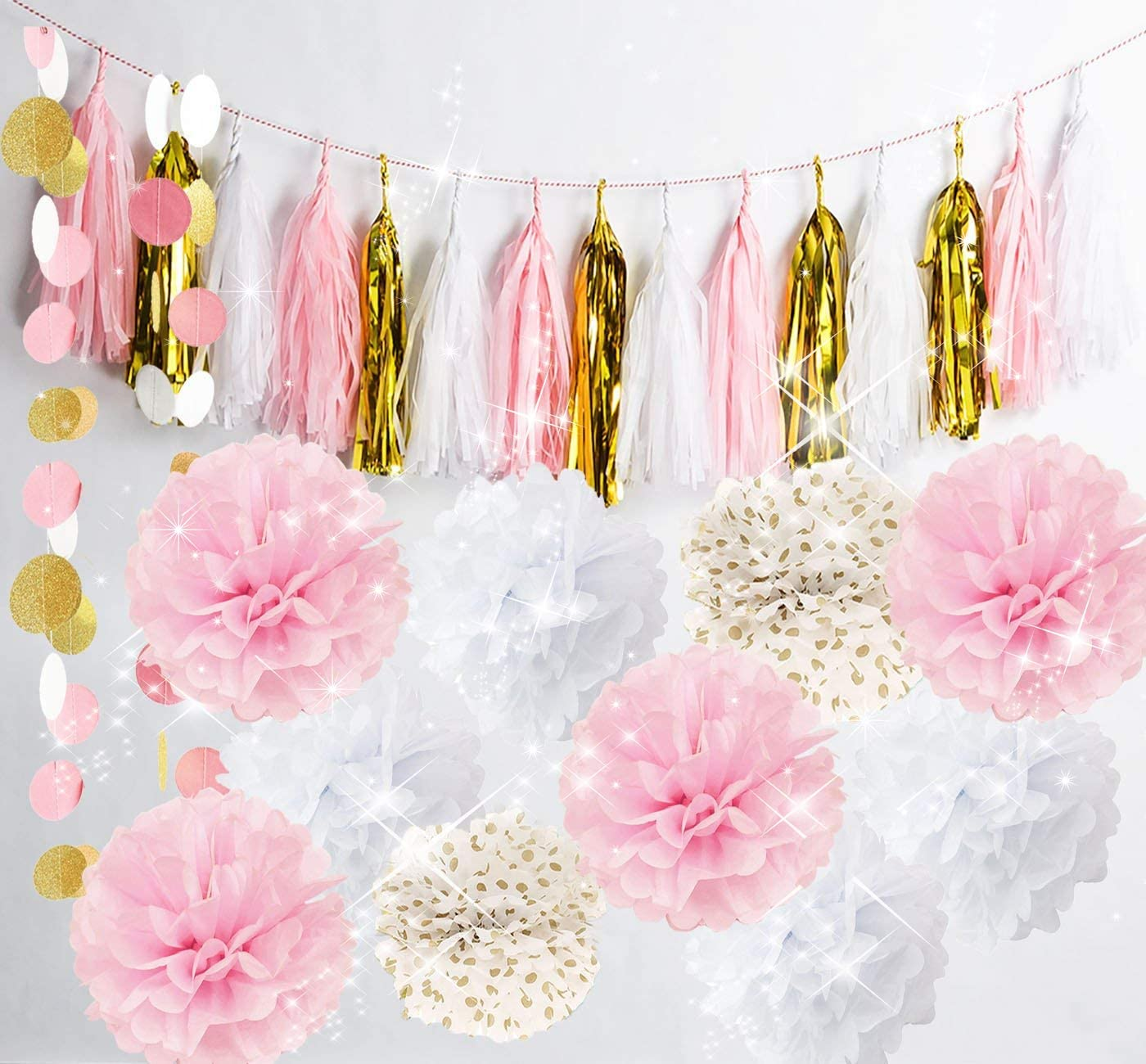 Pink Gold And White Decorations  from images-na.ssl-images-amazon.com