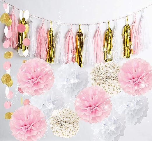Qians Party - 20 unidades de decoración de papel para ...