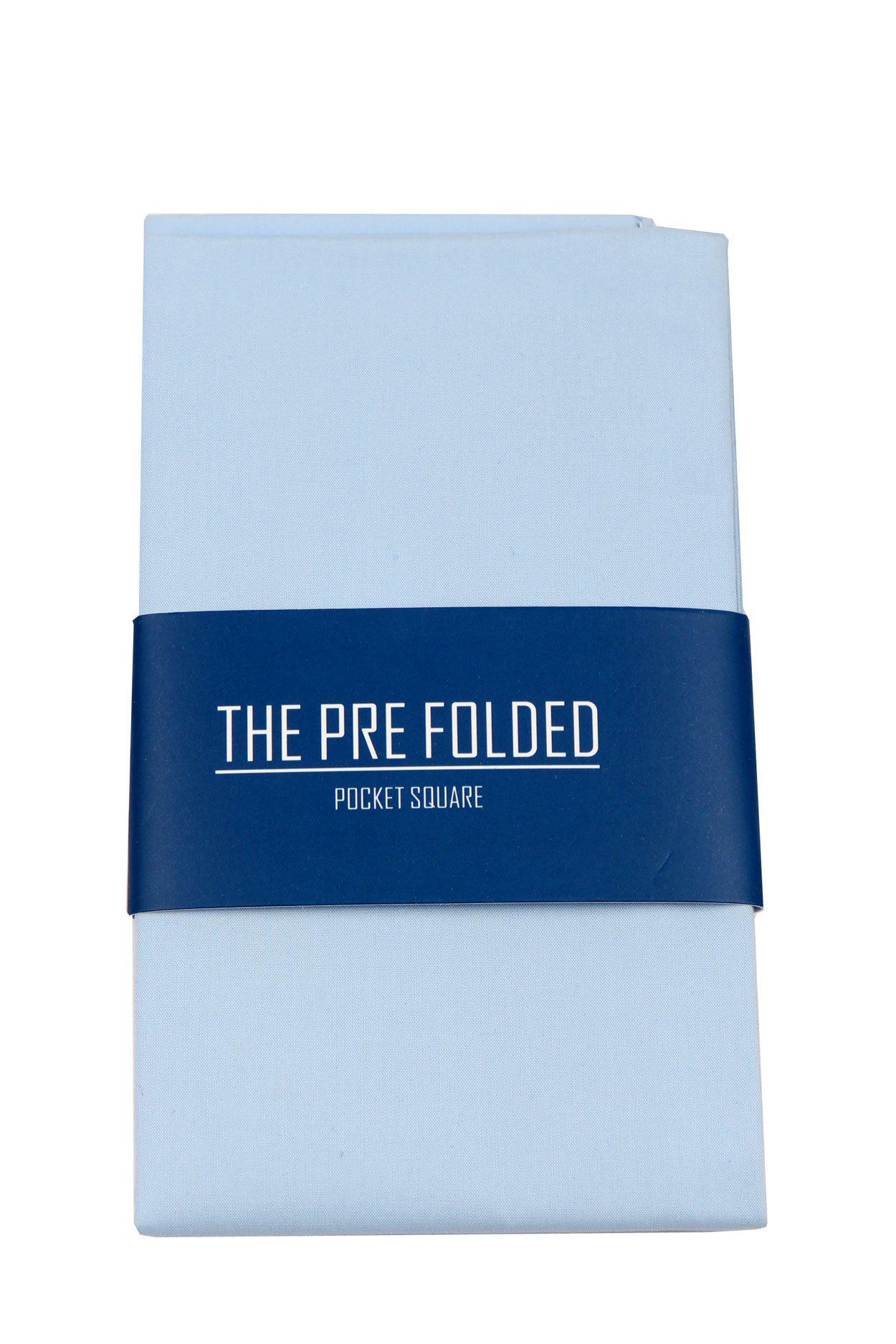 Pre-Folded Fashion Pocket Square Hanky for Men - Solid Dot Paisley Plaid Folded Hankies