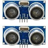 VORCOOL 2pz Modulo ad Ultrasuoni HC-SR04 Sensore di Distanza per Arduino Nano Robot