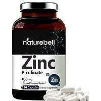 Maximum Strength Zinc 100mg, Zinc Picolinate Supplement, 120 Capsules, Zinc Vitamin...