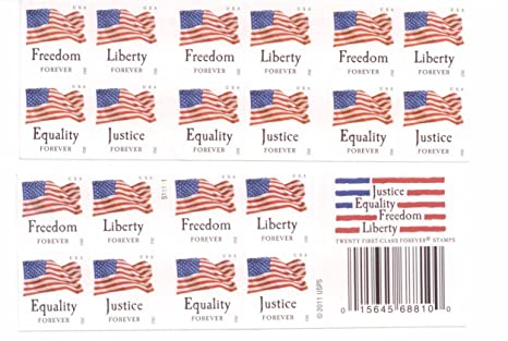 USPS Forever Stamps QuotFour Flagsquot Booklet Of 20