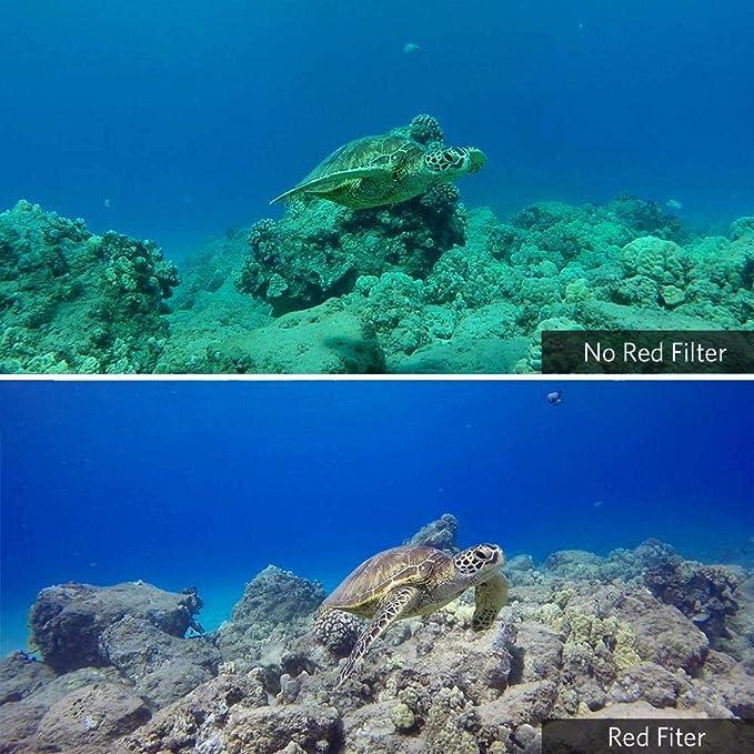 Farbkorrekturverbesserung f/ür Unterwasser Videos /& Fotos 2018 micros2u RED /& MAGENTA Tauchfilter Schwarzes Super Suit Tauchgeh/äuse Kompatibel mit GoPro Hero 7 6 5