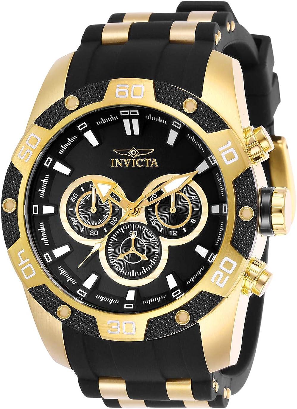 Invicta Men s Speedway Quartz Watch with Stainless Steel Strap, Black, 26 Model 25835
