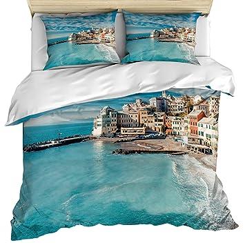 Amazon.com: Partyshow Luxury 3 Piece Duvet Cover Bedding Set ...