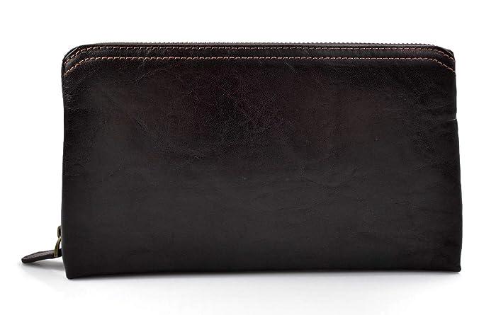 aaf362205d08ba Sac pochette pochette cuir sac à main cuir marron fonce sac de ...