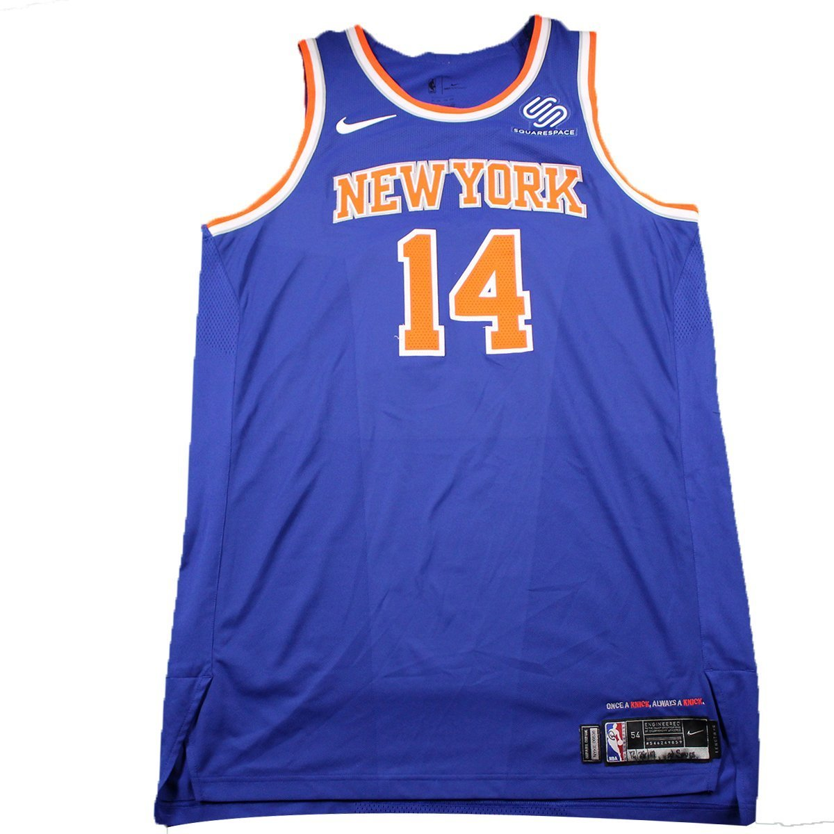 timeless design a0638 31120 Willy Hernangomez New York Knicks Game Used #14 Blue Jersey ...